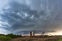 Supercell Thunderstorm Above an Oil Pump in Archer City, TX on May 1, 2013