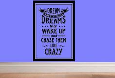 wall decal  Dream your biggest dreams then por WallDecalsAndQuotes