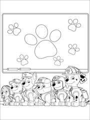 dibujo para colorear Patrulla Canina 13