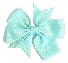 "Aqua blue 3"" pinwheel grosgrain bow"
