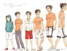 Percy+Jackson+Fan+Art | Percy Jackson through the ages by Brigid Vaughn by Polyduke