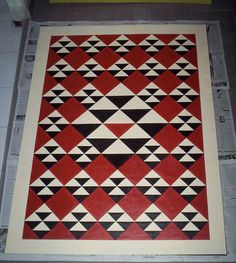 Loose Goose pattern from Floor Cloth Art Painted Floor Cloths, Painted Rug, Kitchen Flooring, Kitchen Furniture, Ugly Kitchen, Rental Kitchen, Best Christmas Gifts, Diy Painting, Floor Rugs