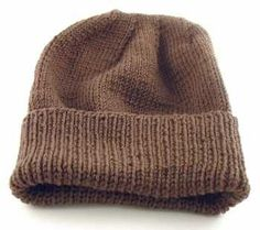 Free pattern for knit hat for soldiers, troops.