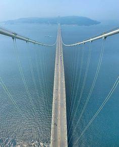 Akashi Kaikyo Bridge the world's longest suspension bridge Kobe City Japan Photo Kobe City, Suspension Bridge, Japan Photo, Travel Goals, Tours, Explore, World, Amazing, Instagram