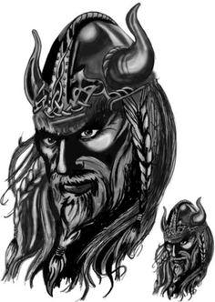 Viking | st dekaler på en viking för 159 kr :: Bilder - Vikingar Svartvit -