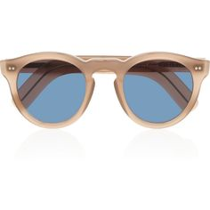 Cutler and Gross Round-frame acetate and metal sunglasses ($500) ❤ liked on Polyvore featuring accessories, eyewear, sunglasses, glasses, occhiali, brown, round frame, round lens sunglasses, brown glasses and round acetate sunglasses