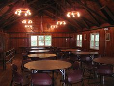 An inside view of Shaw Lodge (the Dining Hall). It is where we eat all of our great meals together!