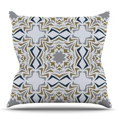 East Urban Home Ice Stars by Miranda Mol Outdoor Throw Pillow
