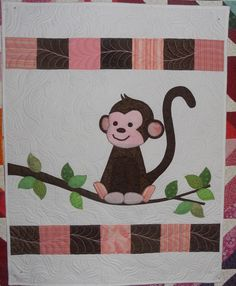 Katie's Quilts and Crafts: Monkey Baby Quilt