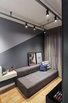 Apartamento alto do ipiranga salas de estar modernas por sp estudio moderno Bedroom Wall Designs, Home Decor Bedroom, Home Living Room, Living Room Designs, Living Room Decor, Decor Room, Home Room Design, Home Interior Design, Paint Colors For Living Room
