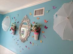Lovely decorations at a Mary Poppins tea party! See more party planning ideas at CatchMyParty.com!