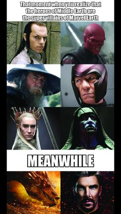 The hobbit 730146158318408031 Funny Marvel Memes, Marvel Jokes, Avengers Memes, Marvel Dc Comics, Funny Comics, Marvel Avengers, Superhero Memes, J. R. R. Tolkien, Fandom Crossover