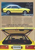 1980 Toyota Corolla Liftback 1979 Ad Picture