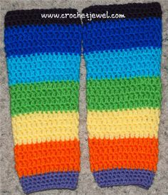 Crochet Child Leg Warmers  If you tell others about my work, please only link back to my blog, but don't copy my patterns to your site. Also you can sell anything you make from my patterns, b...