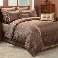 Wildon Home HourGlass Comforter Set in Brown