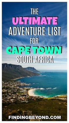 Looking for some adventure in Cape Town, South Africa? Check out or list of adventure sports and activities to keep you active during your stay in the city. Travel in Africa. Travel Advice, Travel Guides, Travel Tips, Cool Places To Visit, Places To Travel, Travel Destinations, Africa Destinations, Grand Prix, Chobe National Park