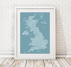 uk places map by over & over | notonthehighstreet.com