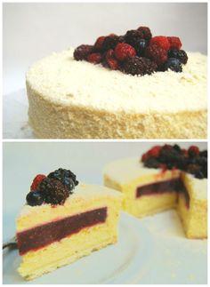 Torta PATAGÓNICA [Chocolate blanco y frutos rojos]