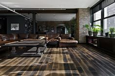 Meat Packing District Loft.  Russian White Oak floors with Oil Black Tint.