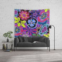 Anemones Wall Tapestry  The Jack (or Jill) of all trades. Wall tapestries truly can do it all. Lightweight to hang on the wall, durable to use as a tablecloth and vivid colors make it an eye-catching picnic blanket. Available in three sizes. Wall Tapestries, Tapestry, Anemones, Vivid Colors, Picnic Blanket, Eye, Home Decor, Wall Hangings, Hanging Tapestry
