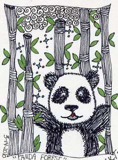 Panda Forest ~ATC~ Traded by Rose Twofeather, via Flickr