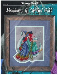 Moonbeams and Stardust Witch is the title of this cross stitch pattern from Stoney Creek.