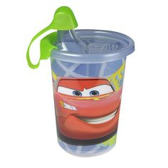 Drive away thirst with these Take & Toss sippy cups featuring Lightning McQueen and friends. These cups are spill-proof, easy to clean and designed to make drinking fun for your little one. Even better, they provide you with the use or lose convenience – durable enough to use over and over again, yet affordable enough that you won't worry about losing them or tossing them out.