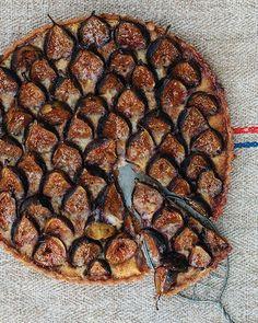 fig & almond custard tart...