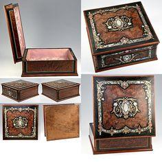 antique Napoleon III era jewelry box