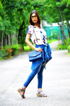 Floral Print and Denim