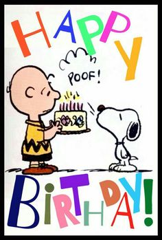 Charlie Brown & Snoopy Birthday