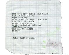 Typewriter Series #1897 by Tyler Knott Gregson Check out my Chasers of the Light Shop! chasersofthelight.com/shop
