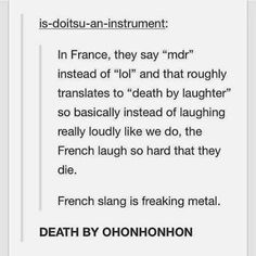 The French Laugh So Hard They Die.