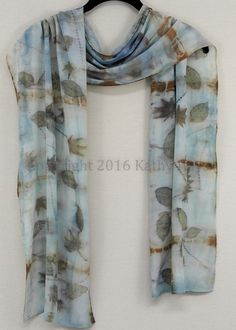 Eco printed scarf by Kathy Hays Designs