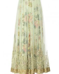 Mint Green Double Layered Anarkali Dress with Sequins - Best Of Wedding Week - Editor's Corner