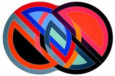 The pop art of Frank Stella, whose early paintings were brightly colored geometric forms, share a common spirit with Moore's truncated sunburst. Hard Edge Painting, Action Painting, Frank Stella Art, Abstract Expressionism, Abstract Art, Post Painterly Abstraction, Arte Popular, Geometric Art, Art Lessons
