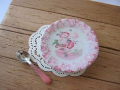 Pomeroy Plate for Dollhouse by alavenderdilly on Etsy, $3.75