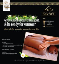 August Promotion for Womens Month Full Body Exfoliation, Womens Month, Body Wraps, Luxury Spa, Spa Day, Promotion, Feelings, Life, Wraps