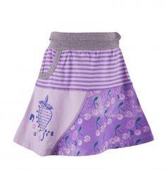 pieced mixed print skirt in josephine