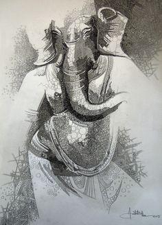 artist Amit Bhar (b1973, West Bengal, India)