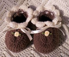Crocheted Baby Booties Infant Girl in by MagdaleneKnits on Etsy, $18.00