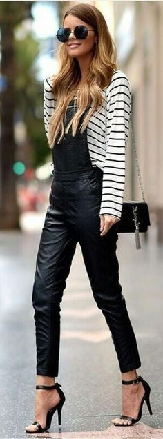#spring #summer #street #style #outfitideas  Black And White Stylish Street Style                                                                             Source