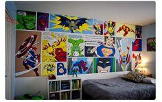 Decor: Heróis na decoração. Boys Room Decor, Kids Decor, Boy Room, Kids Bedroom, Bedroom Wall, Bedroom Ideas, Superhero Room, Room Themes, Baby Shop