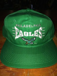 PHILADELPHIA EAGLES VINTAGE 1990 SNAP BACK HAT VETERANS STADIUM. Bucks  County Baseball Co. 42cd06f51