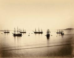 Los paisajes marinos de Gustave Le Gray constituyen las primeras fotografías en las que las nubes y las olas se plasmaron simultáneamente en una única imagen