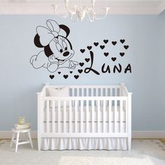 Baby Minnie Mouse Customizable Wall Sticker