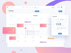 fit dashboard / schedule
