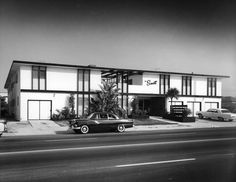 Some years after this picture was taken I lived in these apartments. Covina, California The image is from the 1950's.