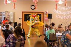 Chinese Birthday, Pink Ombre, Dragon, Lanterns, 1st Birthday, First Birthday, Baby Girl, Lion Dance