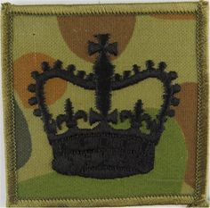 Warrant Officer Class 2 - Australian Army Black On Auscam Warrant Officer rank badge for sale Queen Elizabeth Crown, Queen Crown, Royal Australian Navy, Warrant Officer, Defence Force, Royal Marines, Royal Air Force, Badges, Army